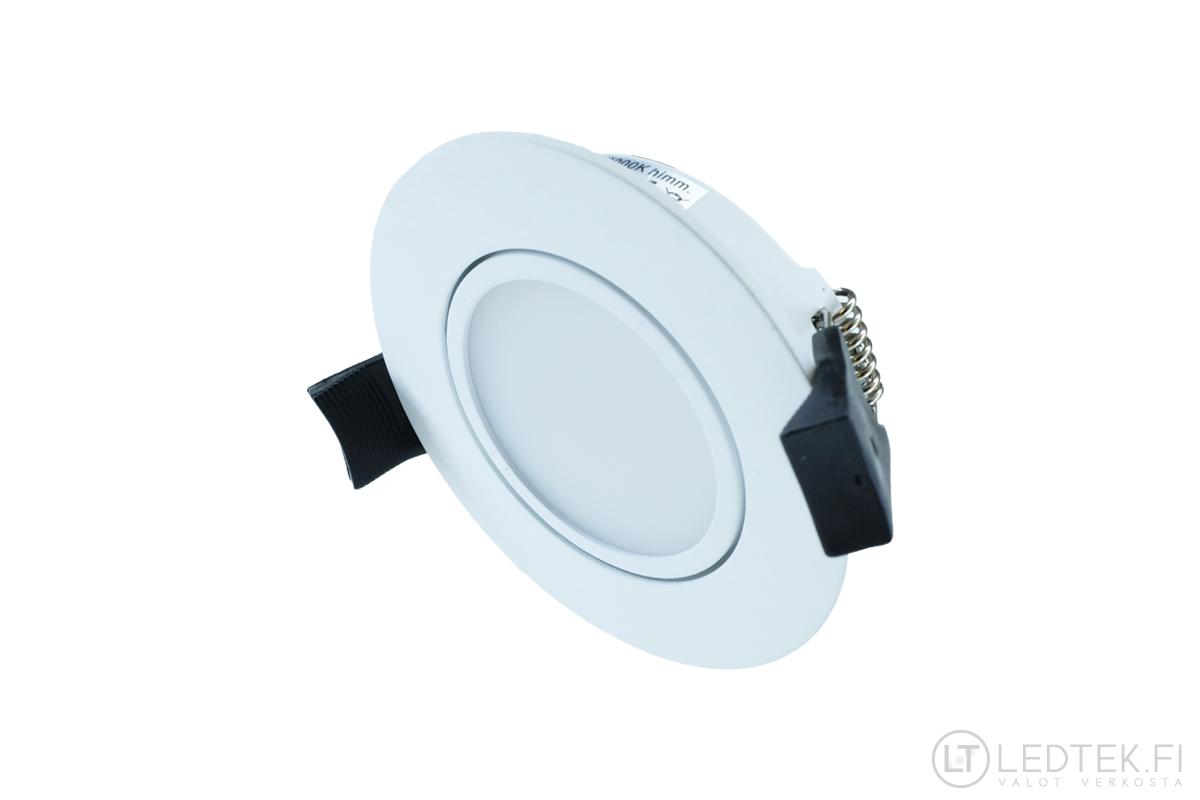 CRI90 LED-alasvalo 7W 4K himmennettävä suunnattava