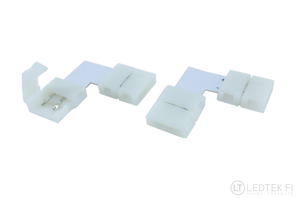 LED-nauhan kulmaliitin 10 mm 6 kpl
