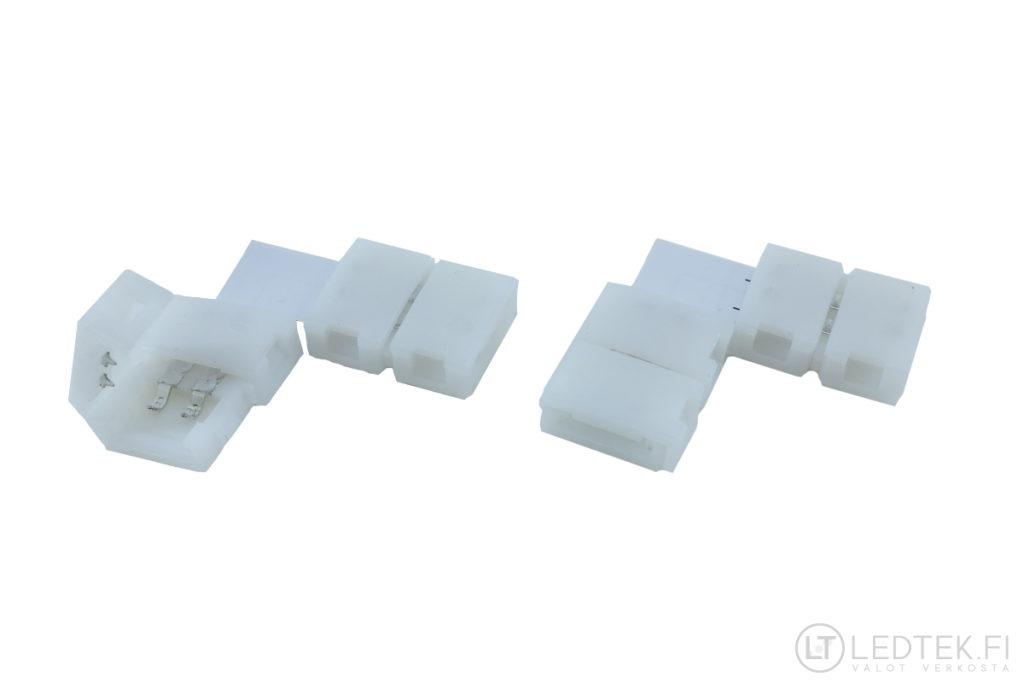 LED-nauhan kulmaliitin 8 mm 6 kpl