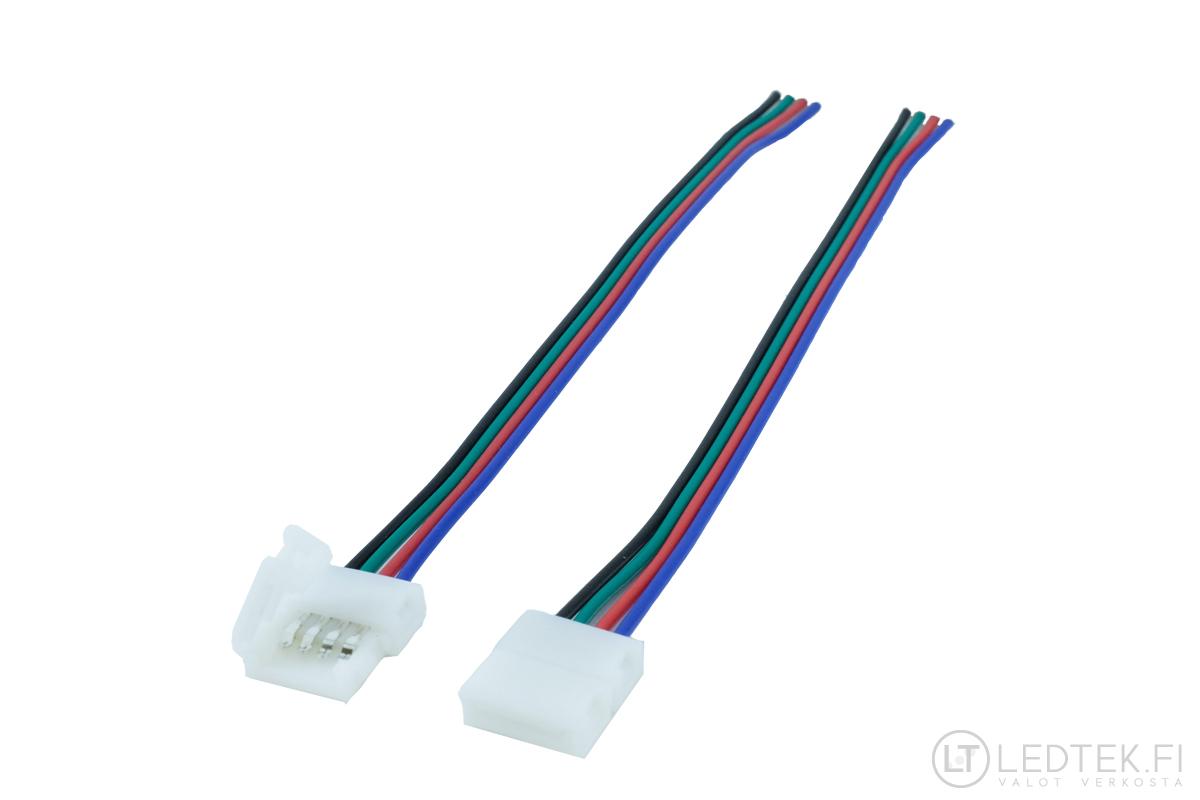LED-nauhan 1-liitin RGB 10 kpl