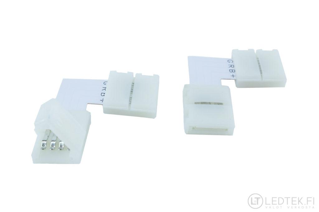 LED-nauhan kulmaliitin RGB 6 kpl