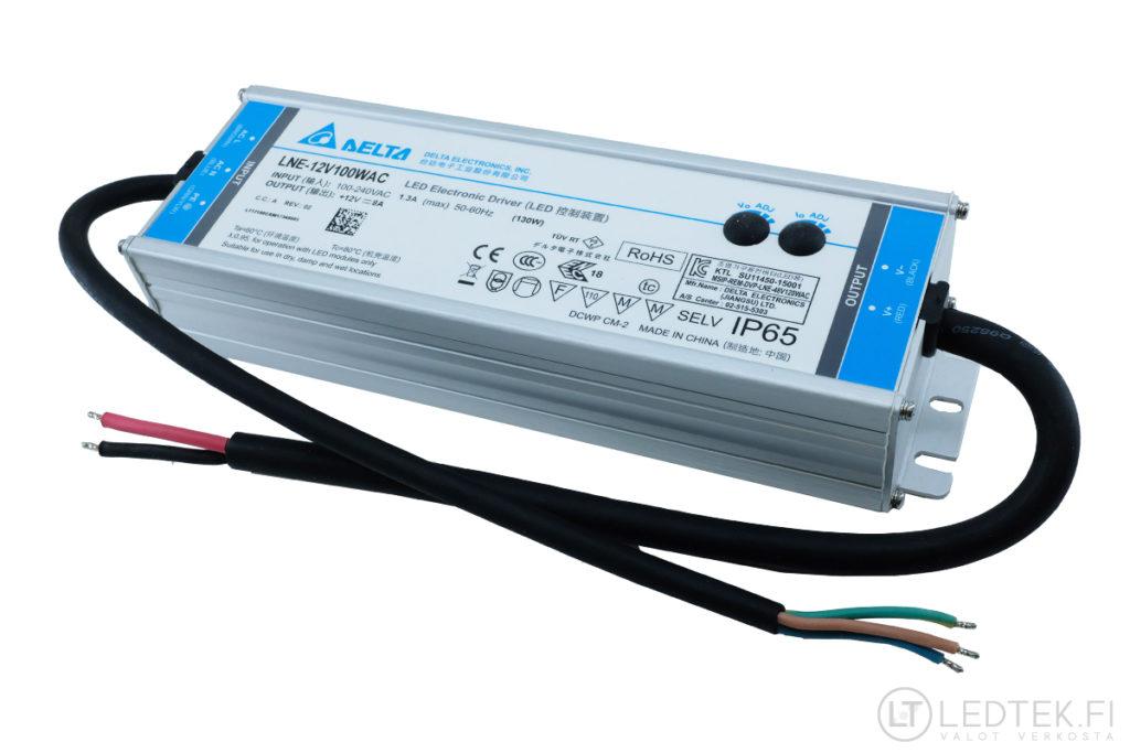 Delta LED-muuntaja 100W 12V