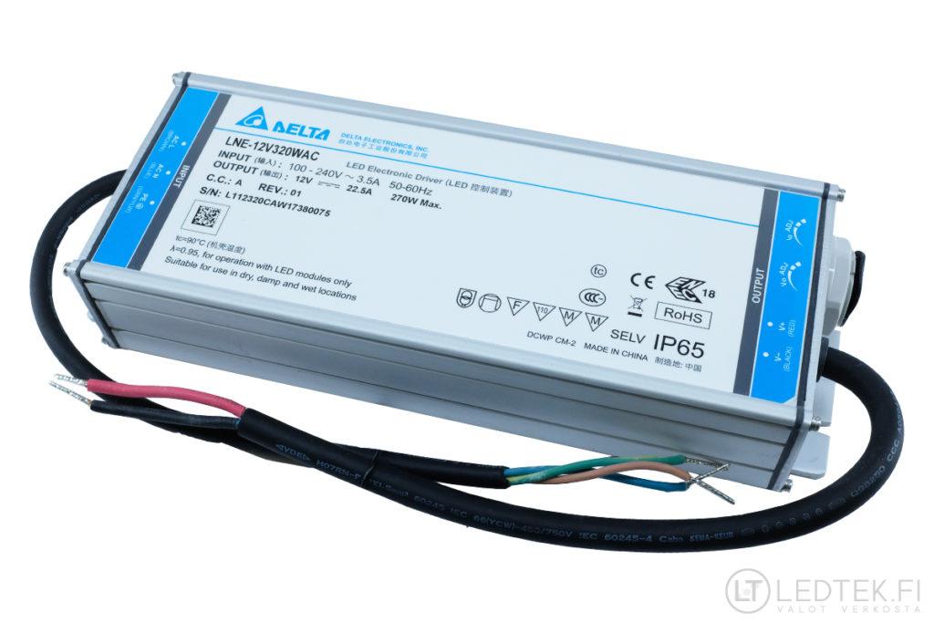 Delta LED-muuntaja 270W 12V