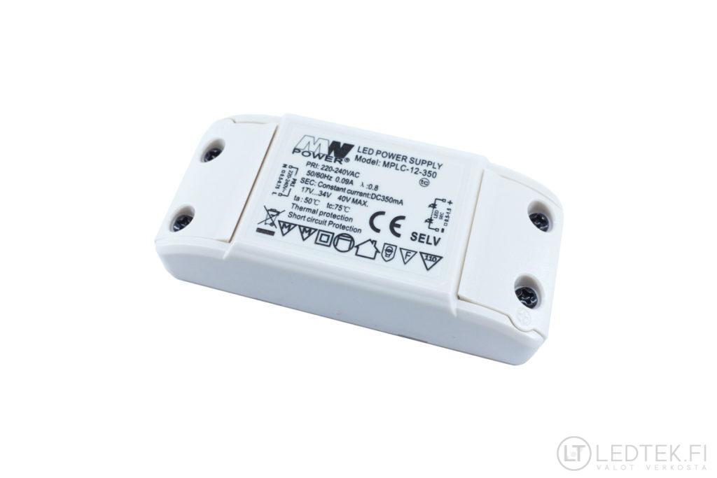 MW Power 350mA LED-muuntaja 12W