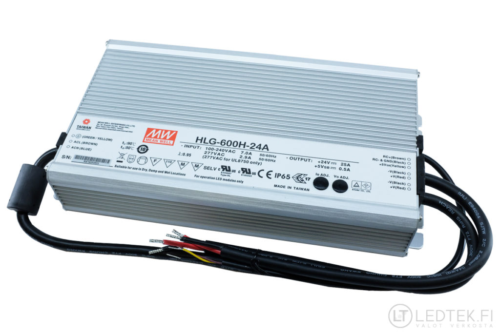 Mean Well LED-muuntaja 600W 24V