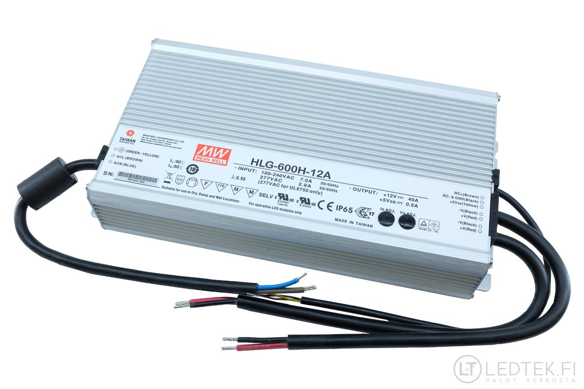Mean Well LED-muuntaja 480W 12V