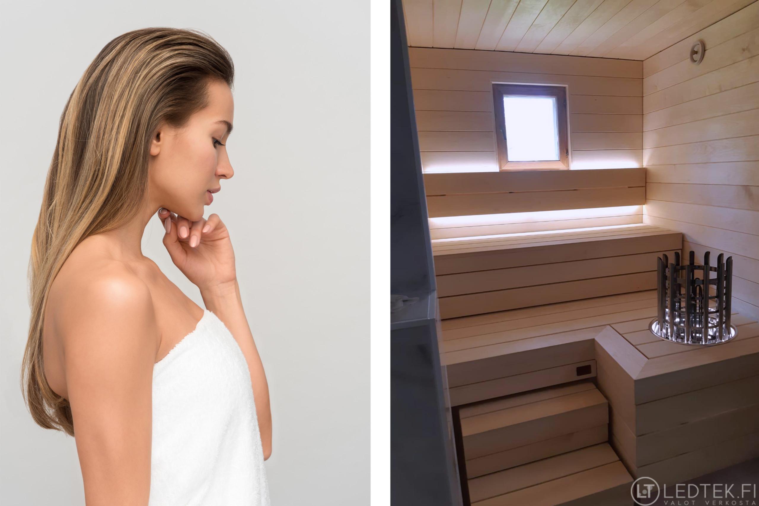 Himmennettävä LED-nauha saunaan