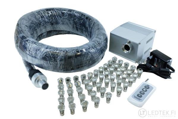 LED-tähtitaivas PE 50x5m kuituvalo