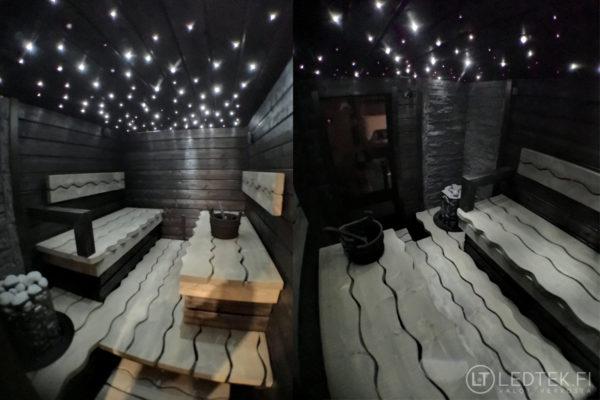 LED-tähtitaivas 100x5m kuituvalo