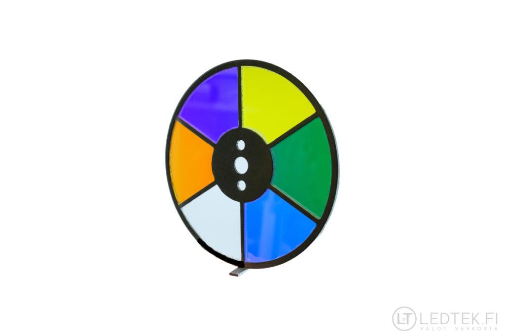 6-värinen tuikekiekko