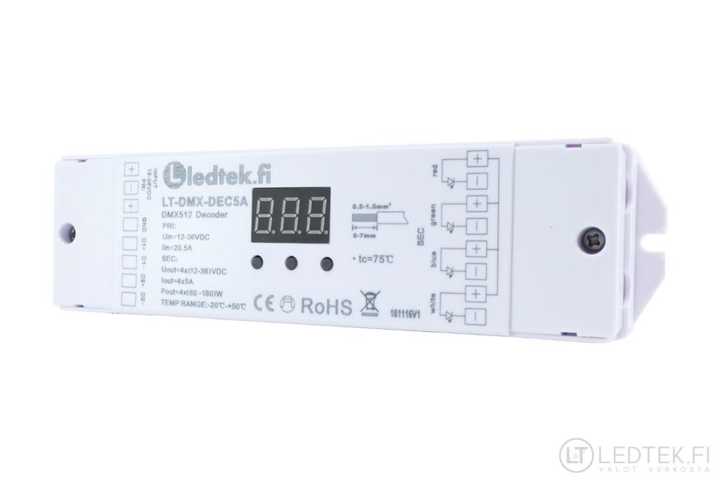 DMX 512 dekooderi 4x5A