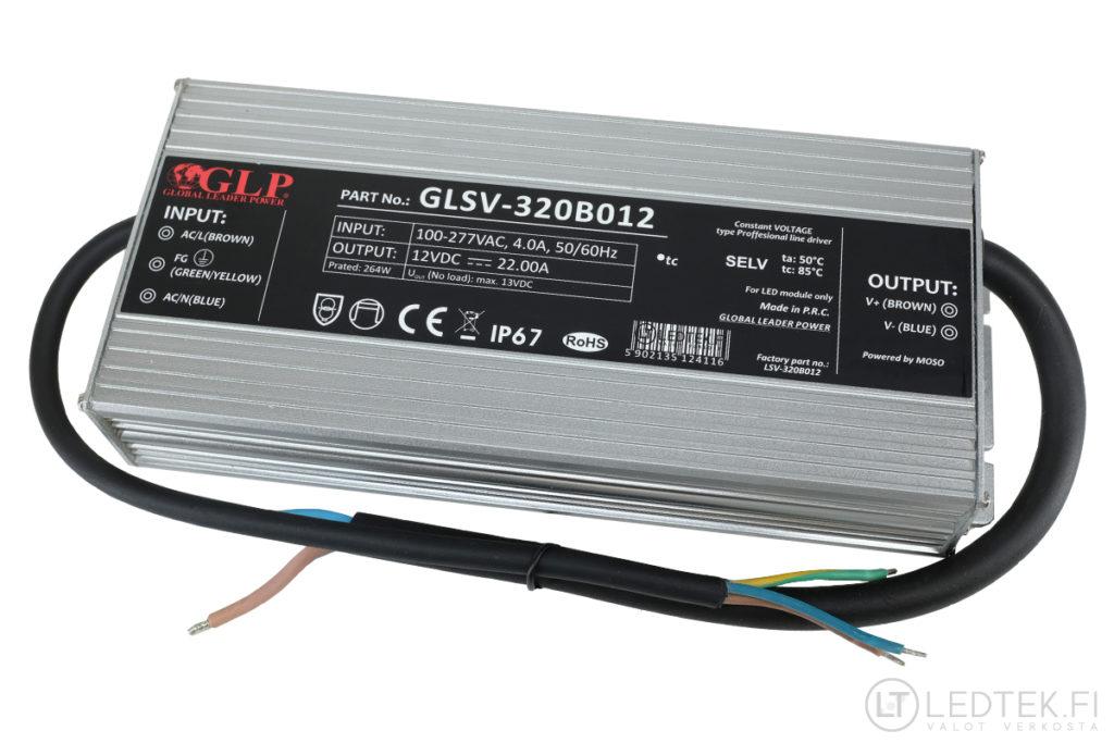 GLP LED-muuntaja 264W 12V