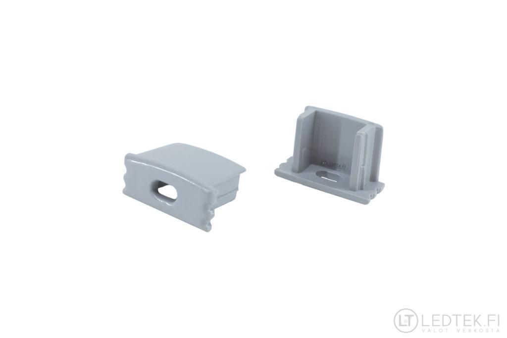 LED-alumiiniprofiilin 1707 reiällinen pääty 5 kpl