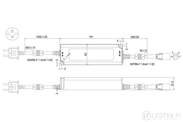 Mean Well LED-muuntaja 115W 12V