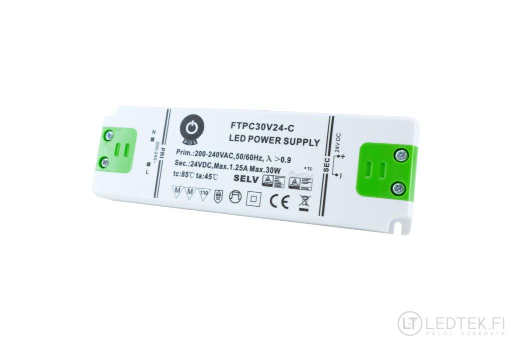 POS LED-muuntaja 30W 24V