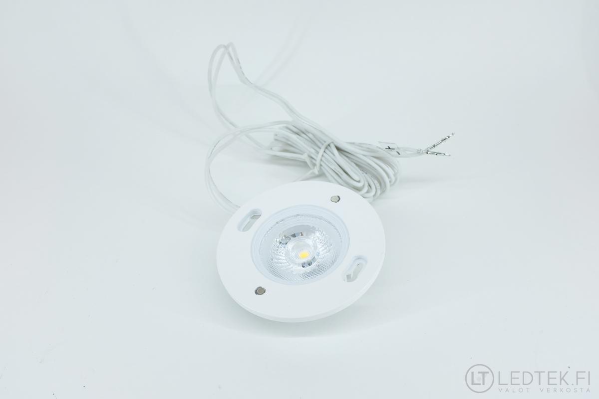 CRI80 LED-kohdevalo 5W 4K himmennettävä 12V