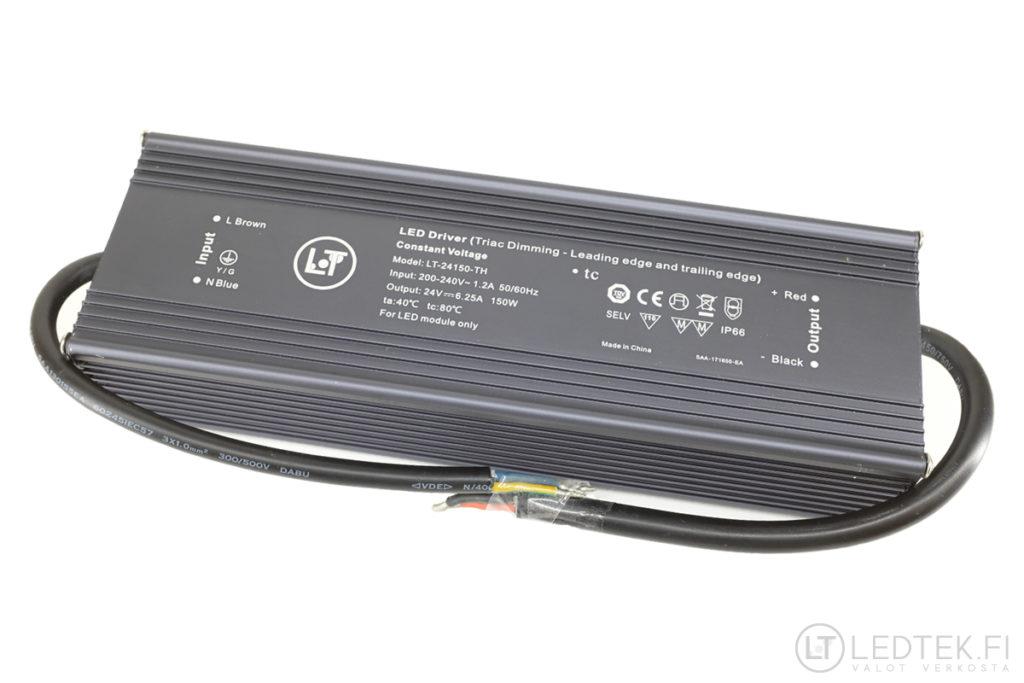 Triac himmennettävä LED-muuntaja 150W 24V